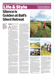 Silence is Golden at Bali's Silent Retreat