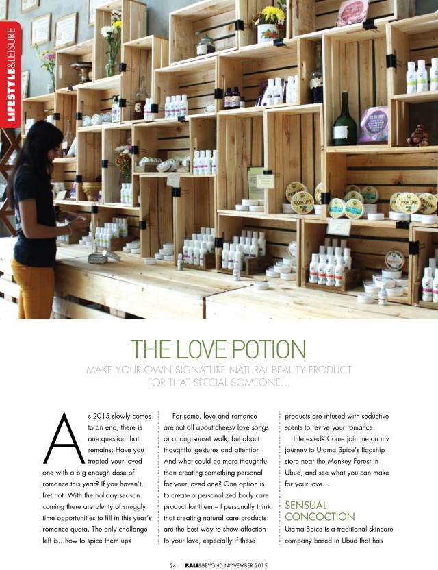 The Love Potion: Make your own signature natural beauty