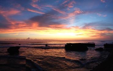 sunset at batu bolong